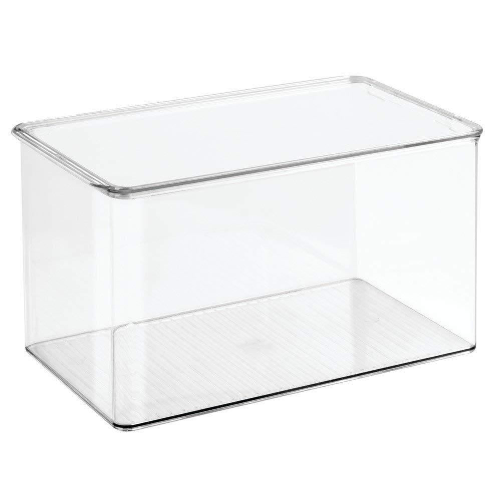 InterDesign 39890 7.25 x 12.5 x 7 in. Clear Clarity Bath Storage Box
