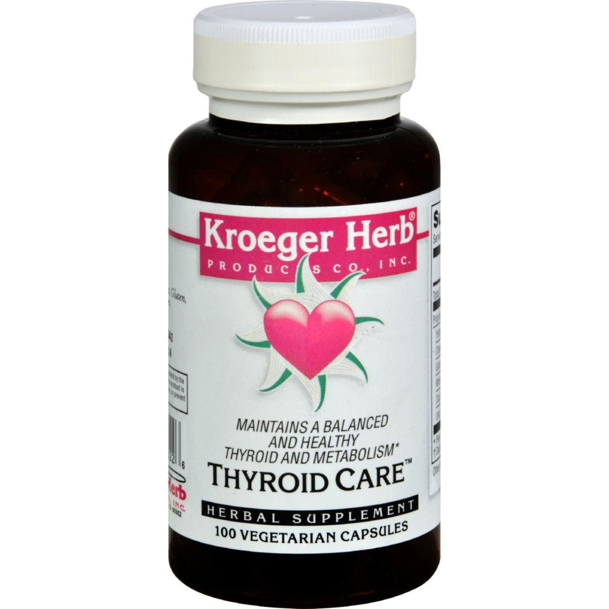 Kroeger Herb HG0420232 Thyroid Care - 100 Capsules