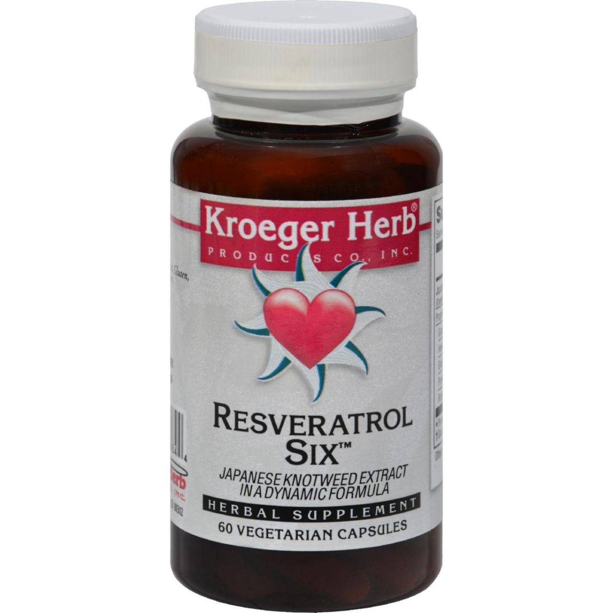 Kroeger Herb HG1072313 Resveratrol Six - 60 Capsules