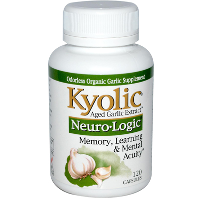 Kyolic Aged Garlic Extract Neuro-Logic Memory Learning And Mental Acuity - 120 Capsules