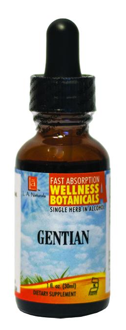 LA Naturals 1134091 1 oz Gentian Organic Welness Liquid