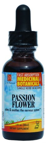 LA Naturals 1134371 1 oz Passion Flower for Calms & Soothes the Nervous System