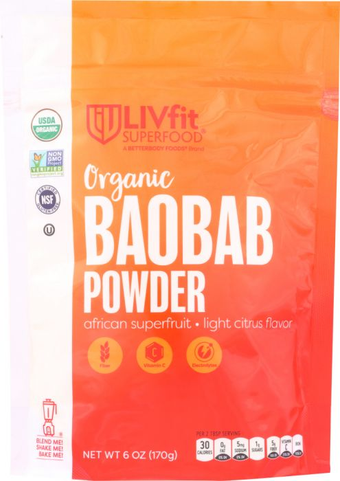 Livfit KHFM00322413 Superfood Organic Baobab Powder - 6 oz