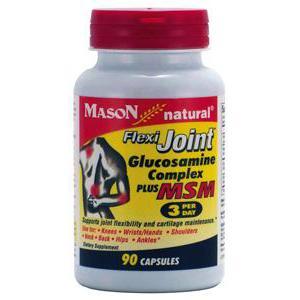MASON VITAMINS GQ126390 Glucosamine Flexi Joint Complex Plus MSM 3 per day Capsules 90 Count