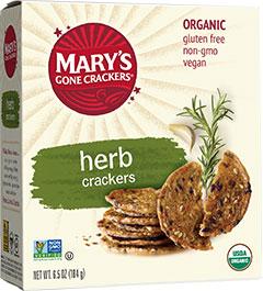 Marys Gone Crackers KHFM00325483 Cracker Thin Garlic Rosemary Gluten Free - 5 oz