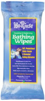 Merchandise 0167207 No Rinse Bathing Wipes 8 Count