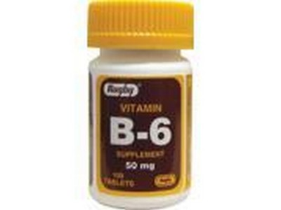 Merchandise 1894080 Rugby Vitamin B-6 50 mg 50 mg 100 Tablets