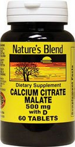 Merchandise 1895621 Natures Blend Calcium Citrate Malate 500 mg 60 Tablets