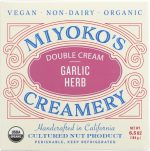 Miyokos Creamery KHFM00274350 Double Cream Garlic Herb - 6.5 oz