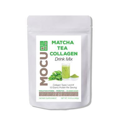 Mocu 661477 17oz Matcha Collagen Drink Mix Case of 3