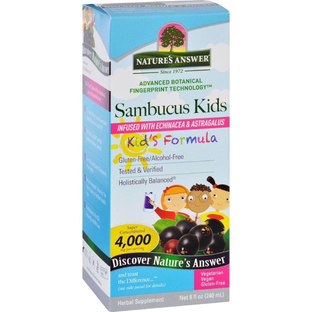 Natures Answer HG1718758 8 oz Sambucus Kids Formula - Original Flavor