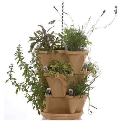 Natures Distributing P1364 12 in. Self Waterning Hanging Planter Terracotta
