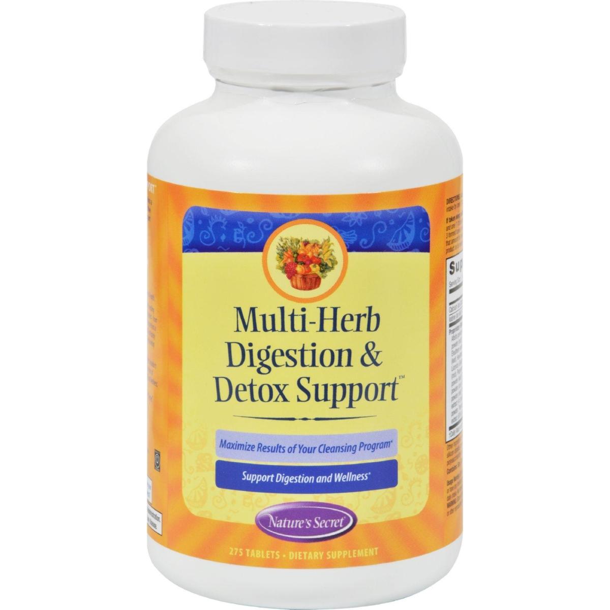 Natures Secret HG0944793 Multi-Herb Digestion & Detox Support - 275 Tablets
