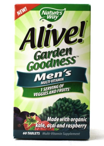 Natures Way 153112 Alive Garden Goodness for Mens - 60 Tablets Case of 12