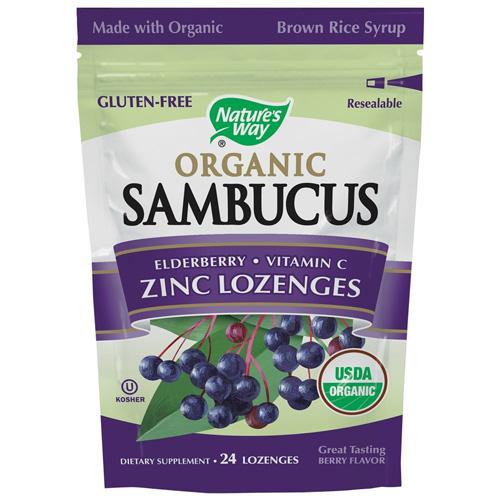 Natures Way ECW1554955 Lozenge Organic Elderberr Zinc