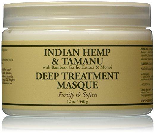 Nubian Heritage 1522945 12 oz Grow & Strengthen Treatment Hair Masque Indian Hemp & Tamanu