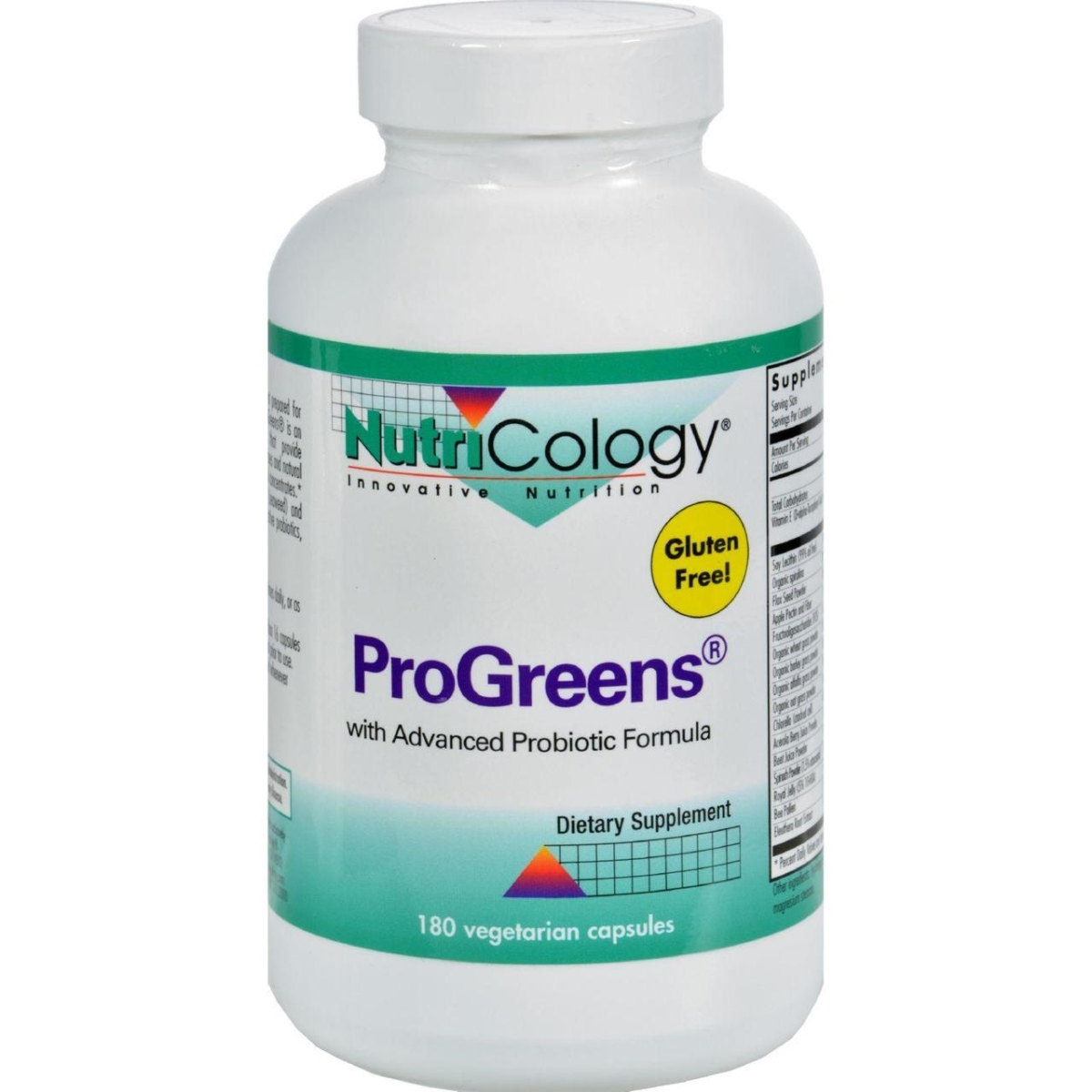 Nutricology HG0889089 Progreens with Advanced Probiotics Formula - 180 Capsules