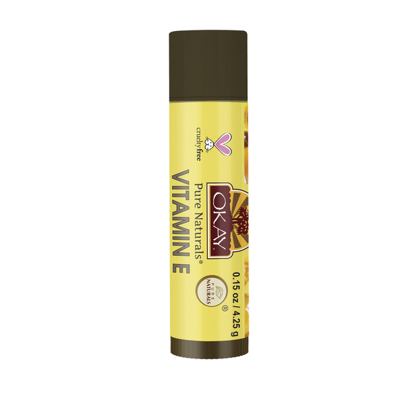 OKAY OKAY-LIPVITET5 0.15 oz 4 gr Organic Lip Balm Tube - Vitamin E