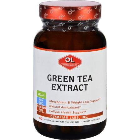Olympian Labs 1627835 Green Tea Extract 60 Vegetarian Capsules
