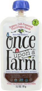 Once Upon A Farm KHFM00278660 Organic Stage 2 Baby Food Mama Bear Blueberry - 3.2 oz