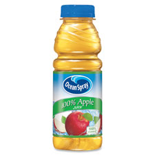 Pepsico PEP123365 Ocean Spray Bottled Apple Juice 12 Per Carton