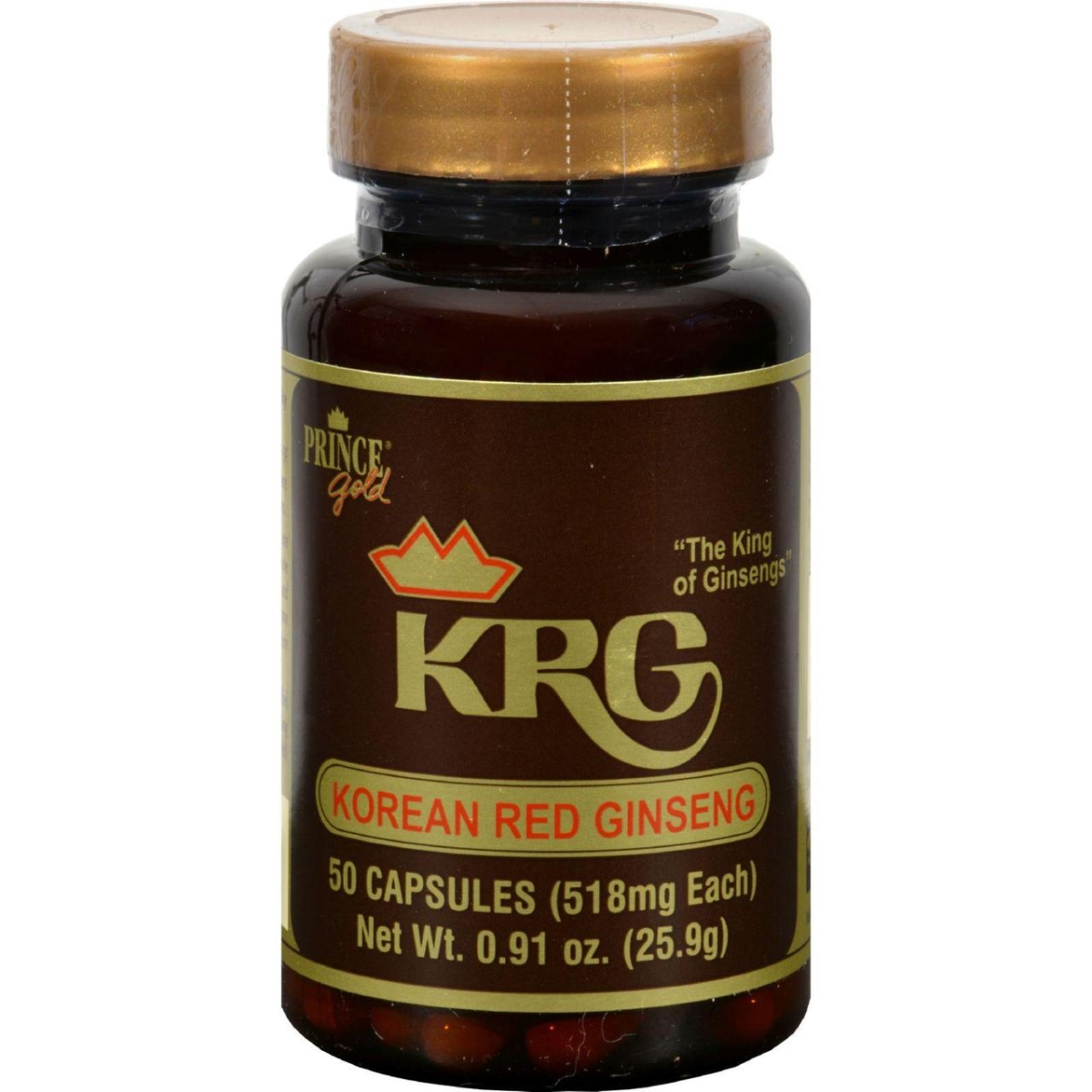 Prince of Peace HG0652875 Korean Red Ginseng - 50 Capsules