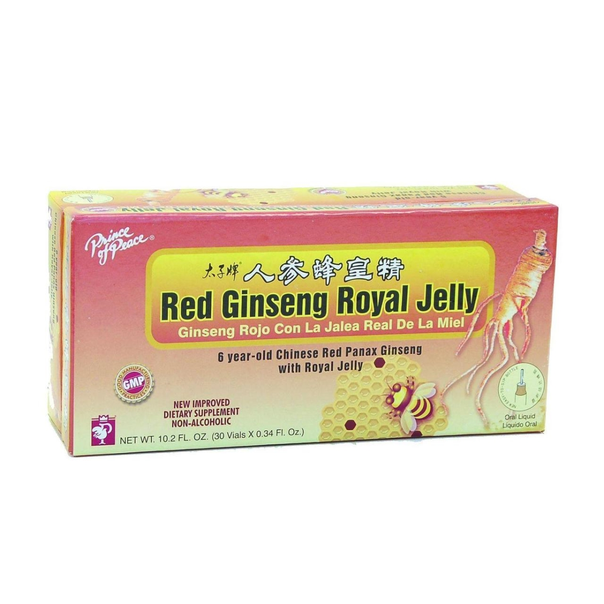 Prince of Peace HG0958660 10 CC Red Ginseng - Royal Jelly 30 Count