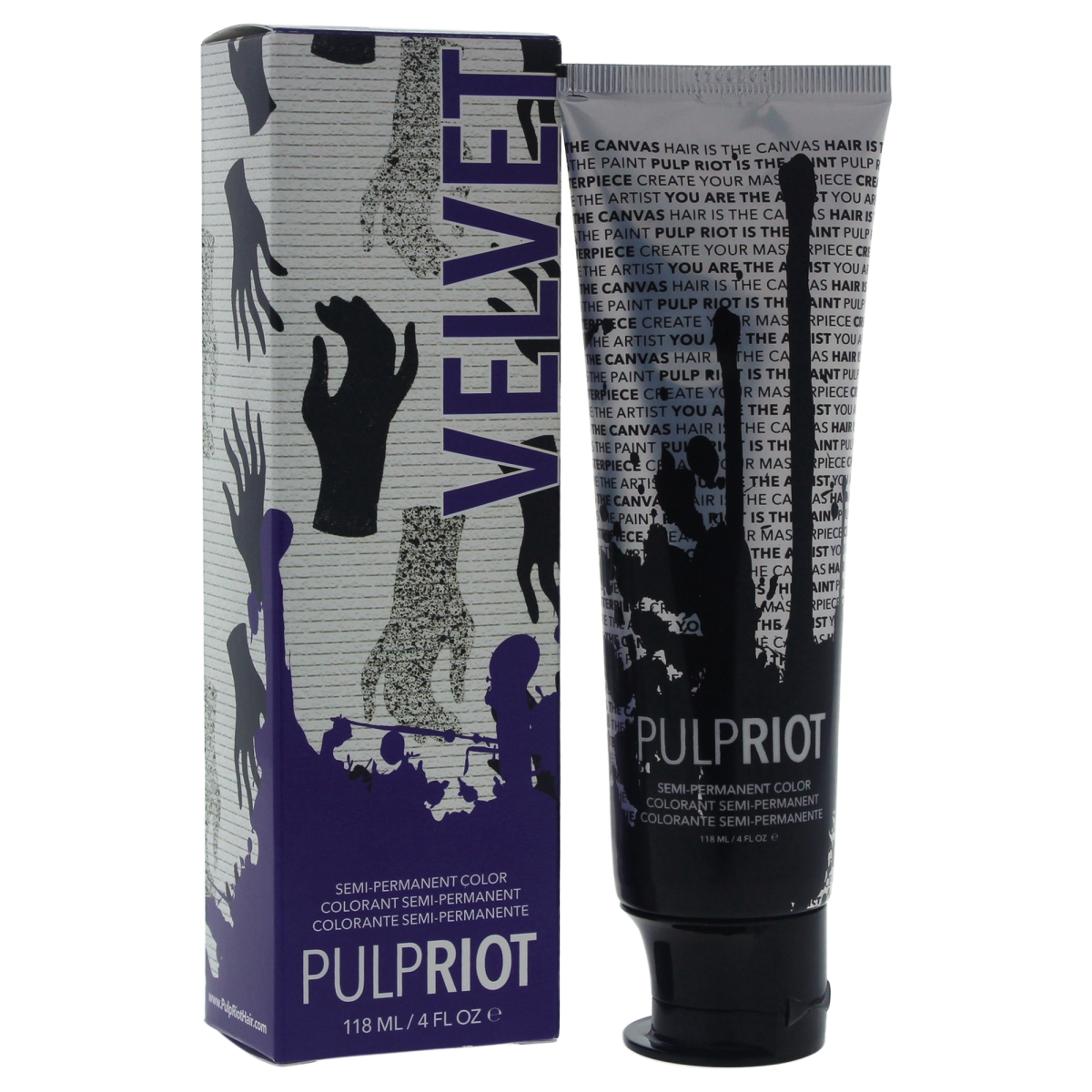 Pulp Riot U-HC-11670 4 oz Velvet Egg Plant Hair Color for Unisex
