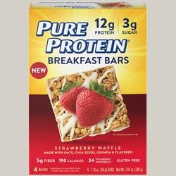 Pure Protein 440151 Breakfast Bars - Strawberry Waffle 6 Bars