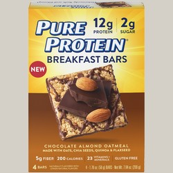 Pure Protein 440153 Breakfast Bars - Chocolate Almond Oatmeal 6 Bars