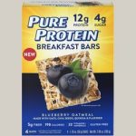 Pure Protein 440154 Breakfast Bars - Blueberry Oatmeal 6 Bars