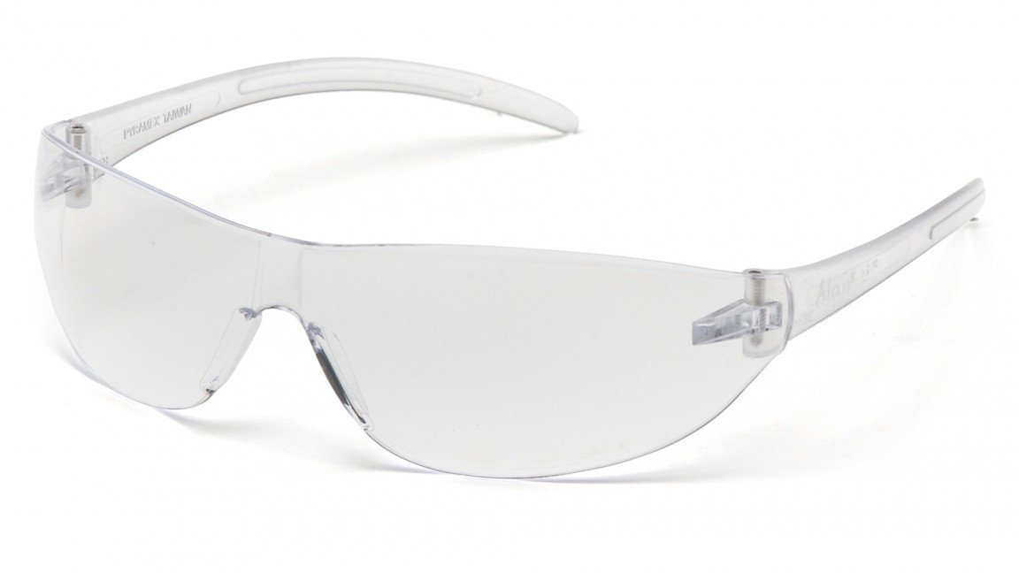 Pyramex Safety Products S3210S Alair Safety Glasses Clear Lens with Clear Temples
