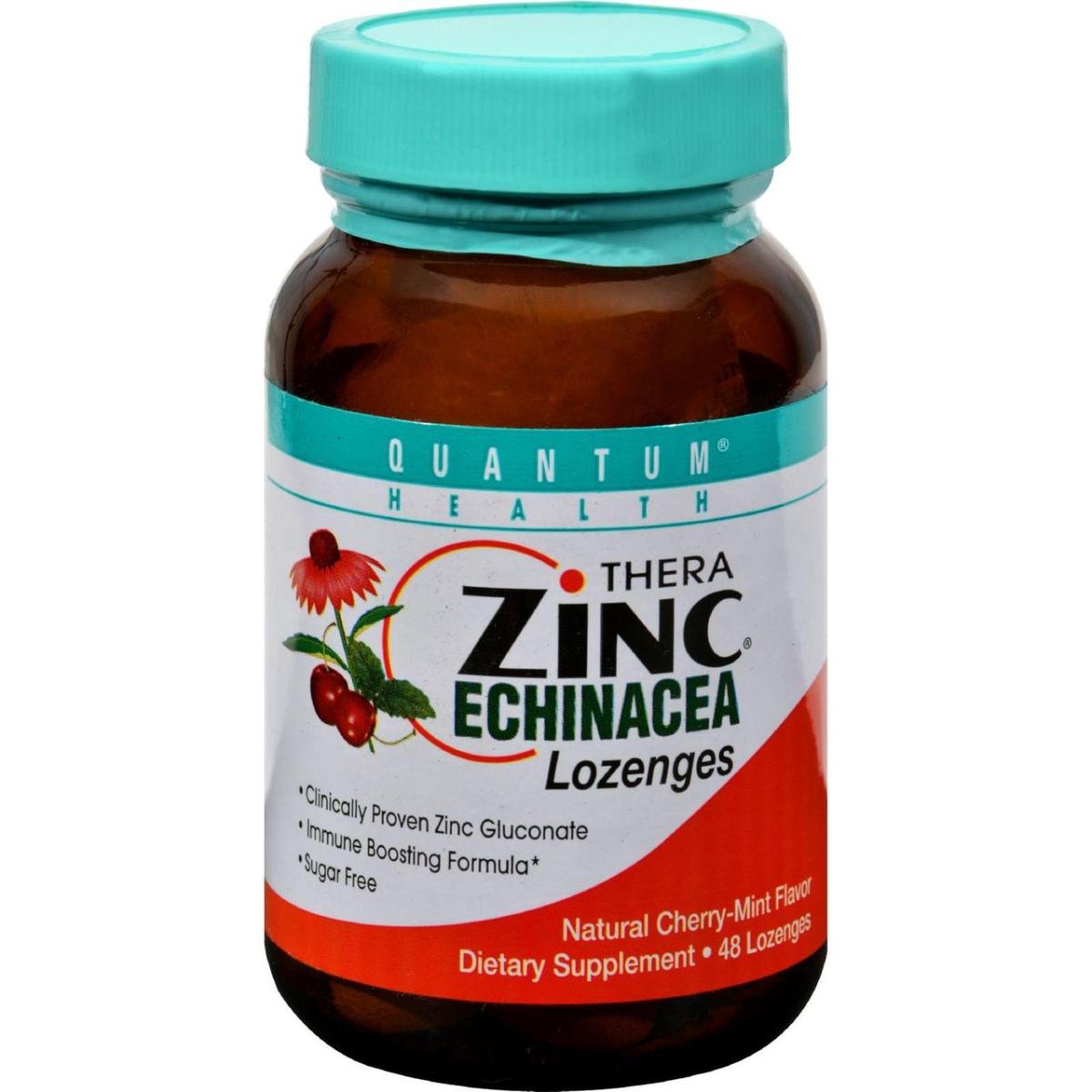 Quantum Research HG0286765 Quantum Thera Zinc Echinacea Lozenges - Cherry Mint - 48 Lozenges