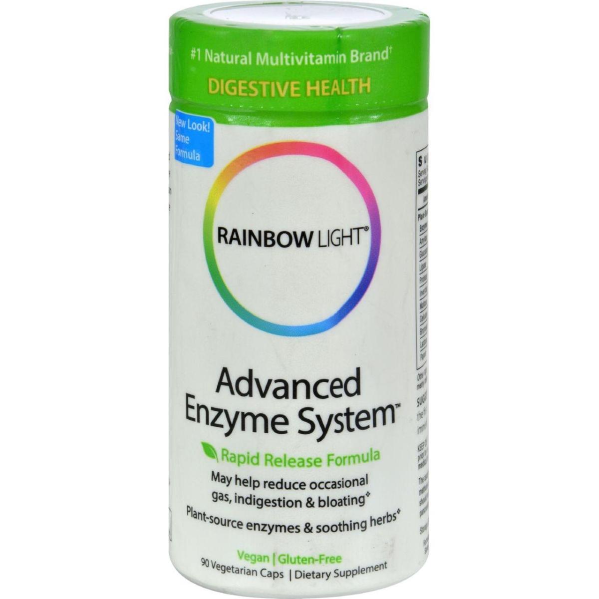 Rainbow Light HG0370320 Advanced Enzyme System - 90 Vegetarian Capsules