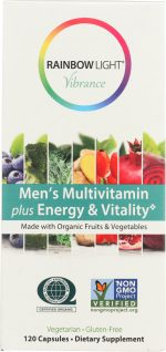 Rainbow Light Vibrance KHFM00292670 Vibrance Vitamin Mens Energy Vitality 120 Capsule