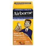 Reckitt Benckiser RAC20334 Airborne Vitamin-C Chewable Tablets