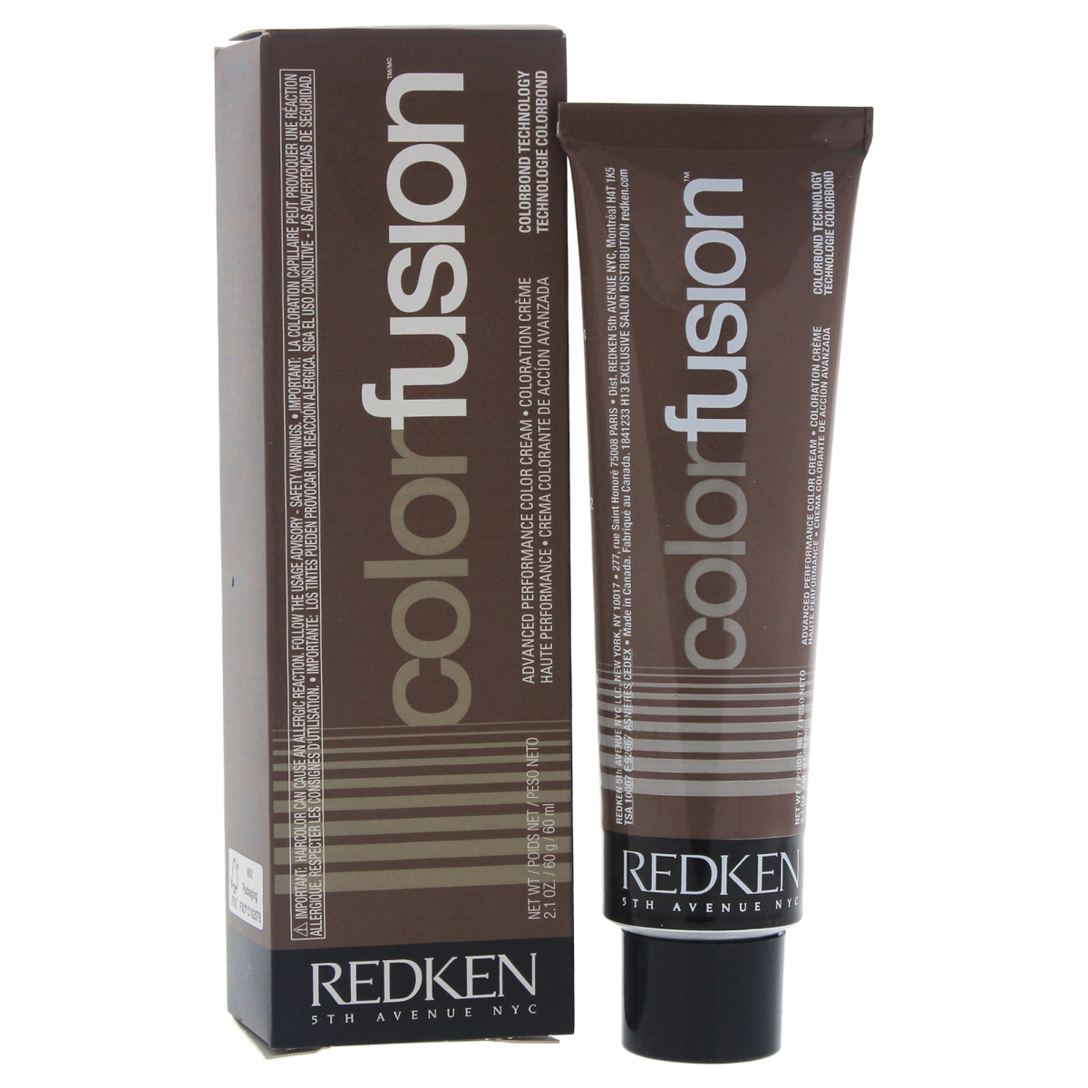 Redken U-HC-11723 2.1 oz Color Fusion Cream No. 1 Natural Balance Hair Color for Unisex Ash Blue