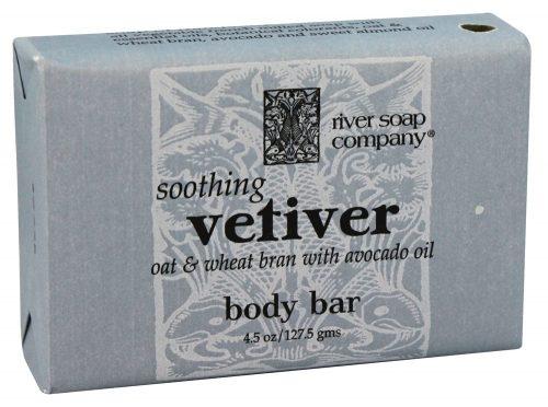 River Soap 1788538 4.5 oz Bar Soap Soothing Vetiver