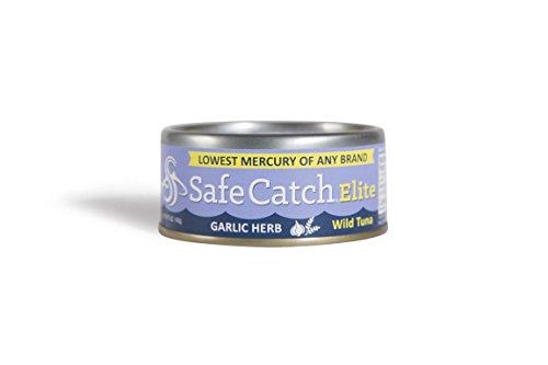 Safe Catch 2109890 5 oz Garlic Herb Elite Wild Tuna - Case of 6