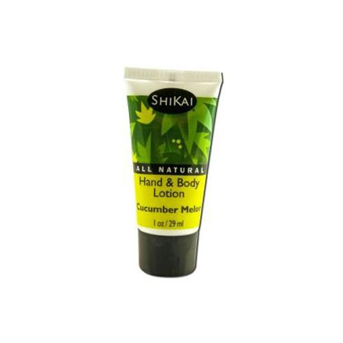 Shikai Products Hand and Body Lotion - Cucumber - Trial Size - Case of 12 - 1 oz - 0366385