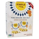 Simple Mills 320261 Naturally Gluten Free Fine Ground Sea Salt Almond Flour Crackers 4.8 oz - Pack of 6