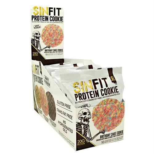 Sinister Labs 9480029 2.75 oz Sinfit Cookie Birthday Cake Cookie - 10 Per Box