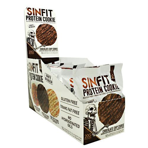 Sinister Labs 9480030 2.75 oz Sinfit Cookie Chocolate Chip Cookie - 10 Per Box