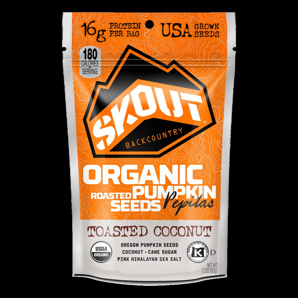Skout 319744 Toasted Coconut Pumpkin Seeds 2.2 oz - Pack of 6