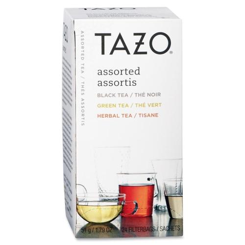 Starbucks SBK153966 Tazo Tea 24- BX Assorted - Black- Green