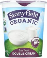 Stonyfield KHFM00296112 Yogurt Double Cream Plain - 31 oz