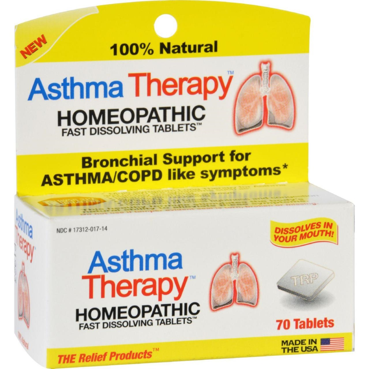 Transmission Products HG1181270 Asthma Therapy - 70 Tablets