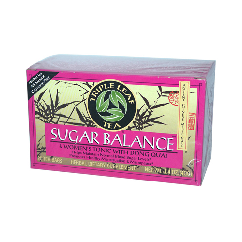 Triple Leaf Tea 880153 Triple Leaf Tea Sugar Balance Decaffeinated Tea - 20 Tea Bags - Case of 6