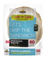 Tumaros 1238195 8 Count Low in Carb Wraps Premium White