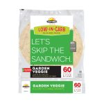 Tumaros 1238237 Low-In Carb Wraps - Garden Veggie- 8 Count - Pack of 6